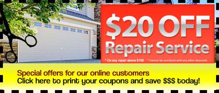 Affordable Garage Door Repair Coupons