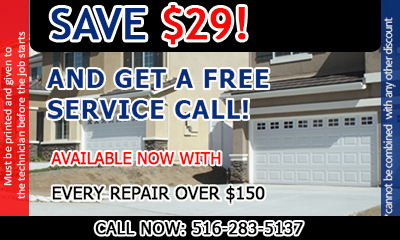 Garage Door Repair Port Washington coupon - download now!